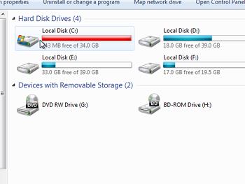 Extending C drive not possible - Super User