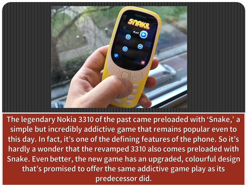 nokia 3310 features
