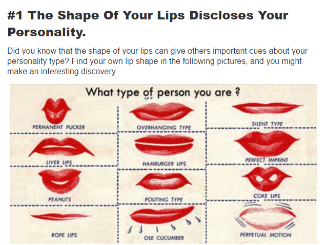 Learn What Your Lips Disclose About Your Personality