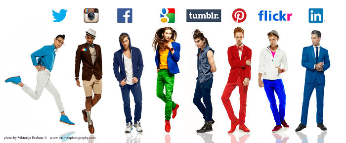 Guys Depicted As Social Networks